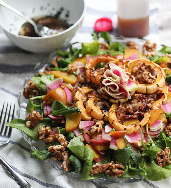 Bowery Arugula Autumn Salad with Caribbean Colors
