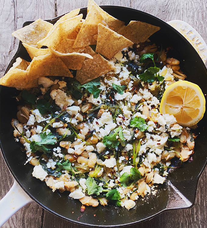 Bowery Baby Kale, White Bean, and Herbed Feta Dip