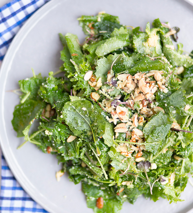 Baby Kale and Cheese Salad