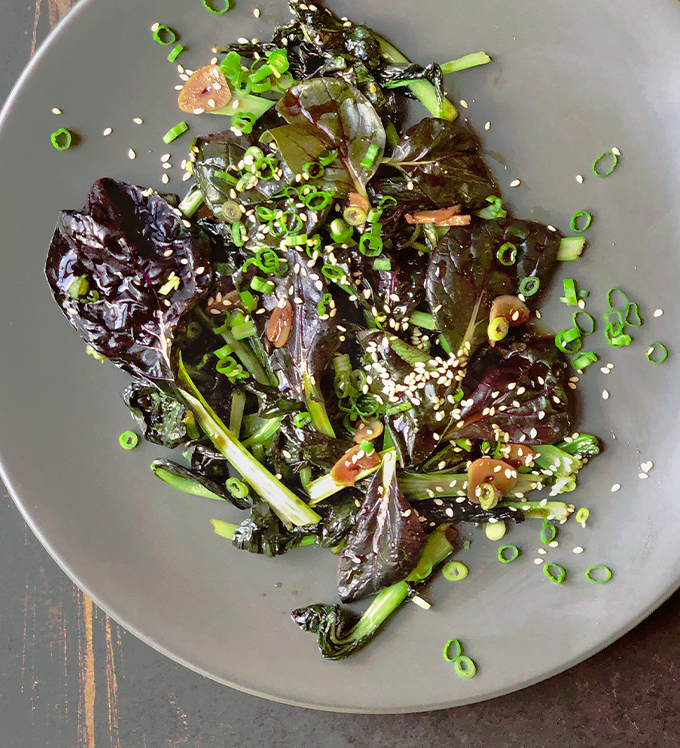 Bowery Bok Choy with Sesame Oyster Sauce