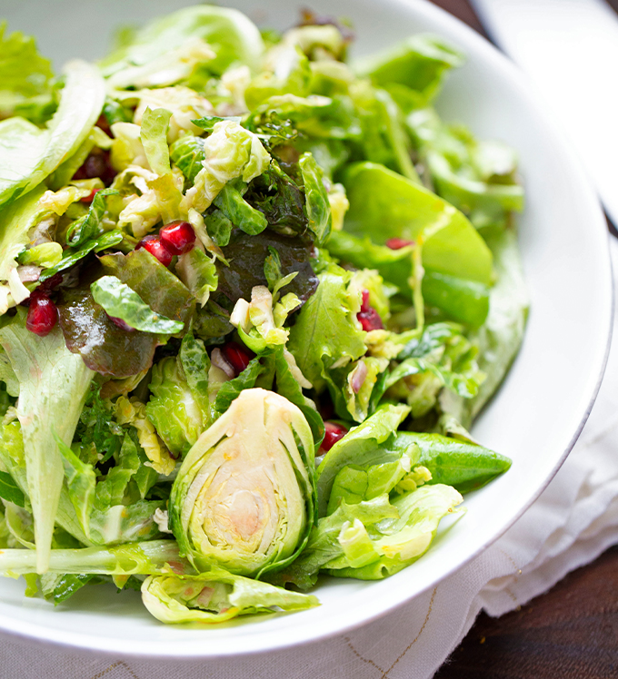 Bowery Spring Blend with Brussels Sprouts and Fig Dressing
